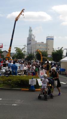 ららぽーと横浜働く車展
